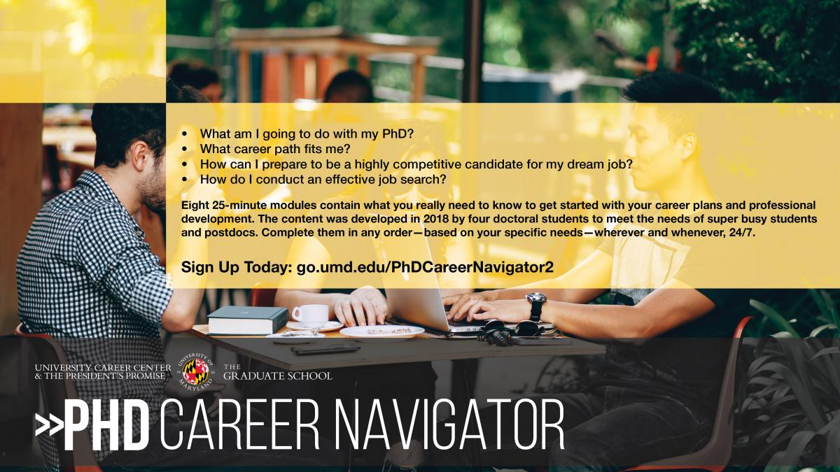 Phd Career Navigator The University Of Maryland Graduate School