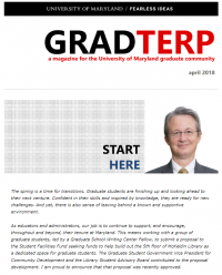 Image of GradTerp Newsletter