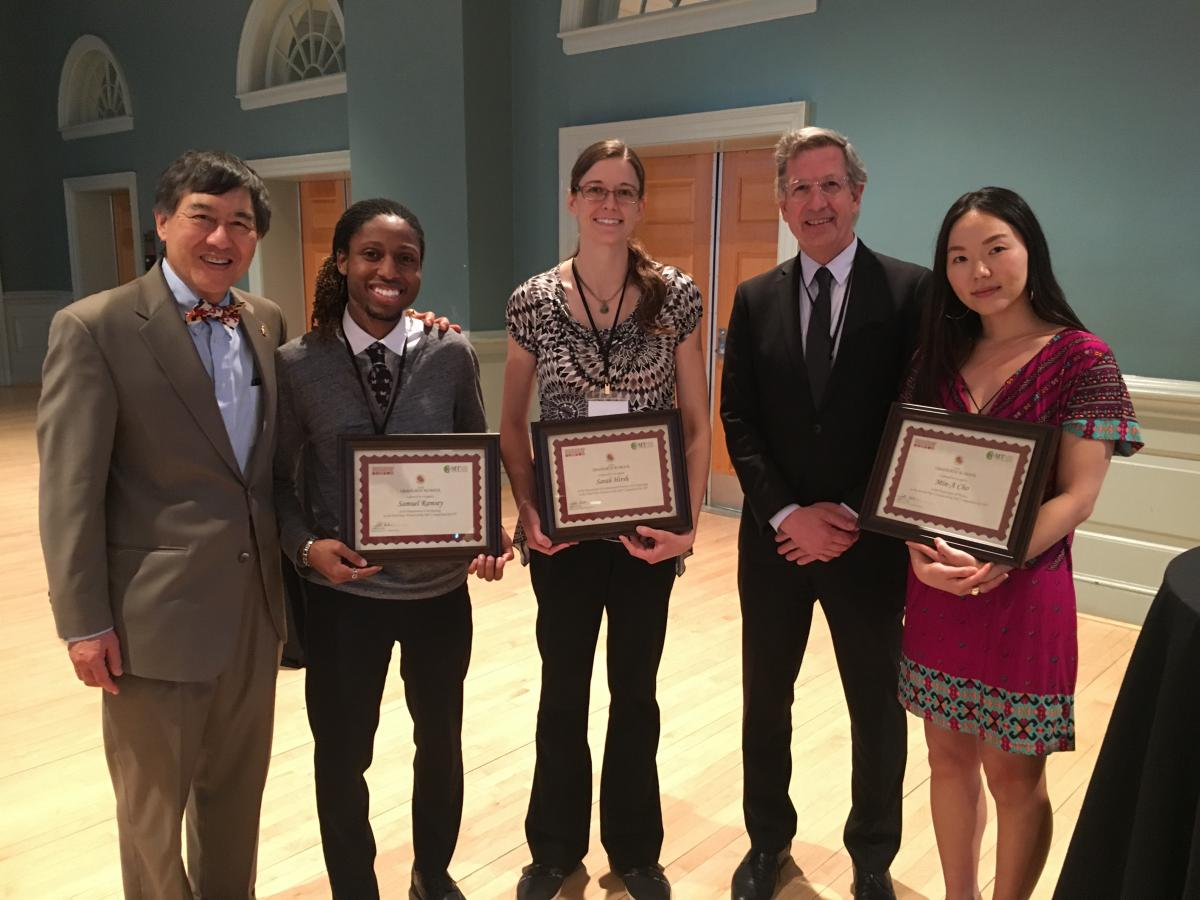3MT winners with President Loh & Dean Franke