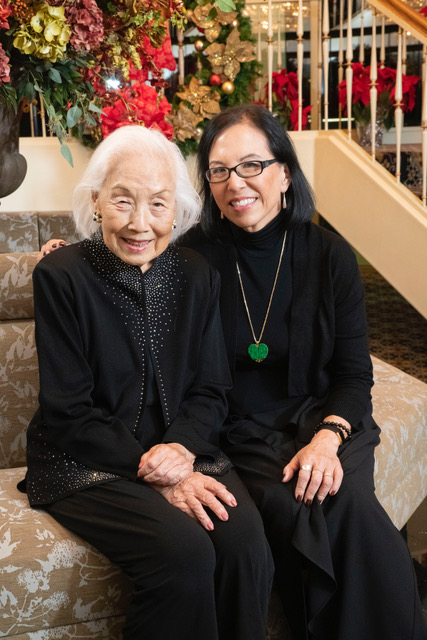 Pattie Yu with her mother