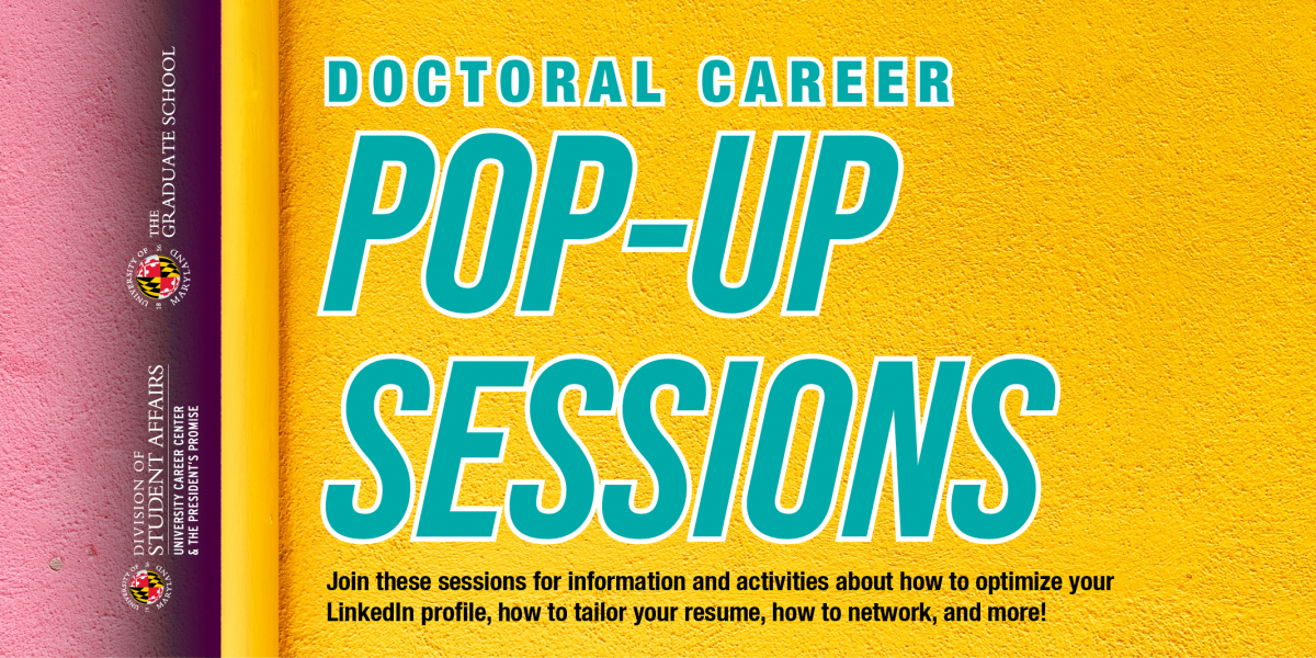Doctoral Careers Pop-Up Session