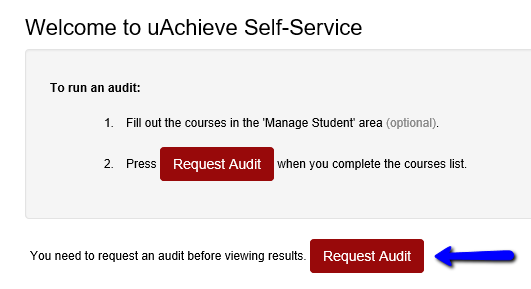 Step 2 click the request audit button uachieve screenshot